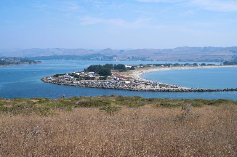 Bodega Bay Harbor and Doran Park. Doran regional park at mouth of bodega harbor and bay in sonoma coast state park of california royalty free stock photos