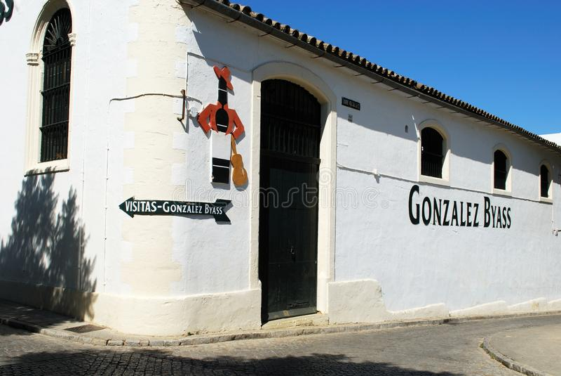 Bodega de Gonzalez Byass, Jerez de la Frontera fotos de archivo libres de regalías