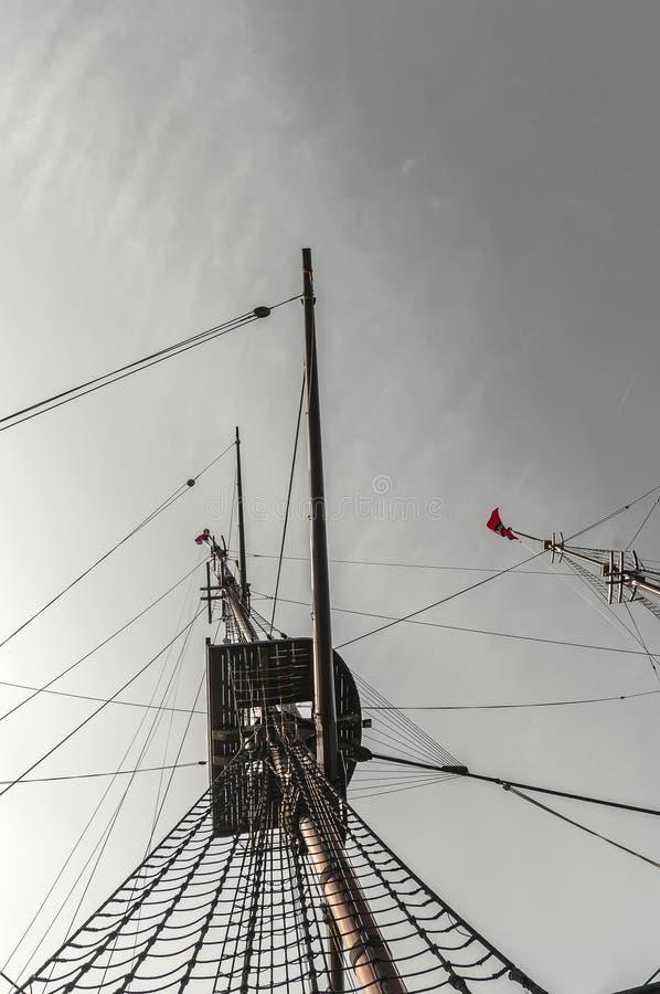Bodem van het kraainest van een sailship stock afbeelding