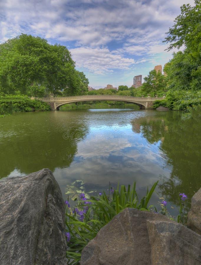 Bodembrug in het voorjaar stock foto's