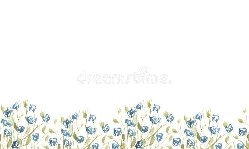 Bodemgrens van wildflowers stock foto's