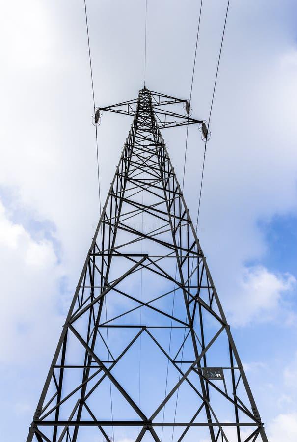 Bodemmening van een elektriciteitstoren royalty-vrije stock afbeelding