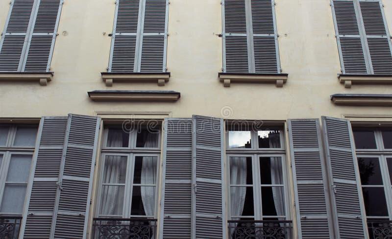 Bodemmening van een gebouw in Parijs royalty-vrije stock afbeelding