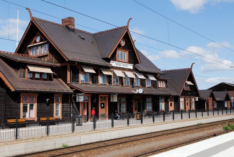 Boden central station. Boden, Sweden - July 13, 2015: Exterior view ofthe Boden central station stock photos
