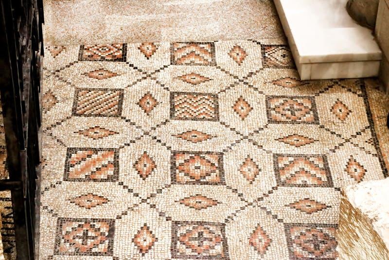 Boden in der Basilika der Ankündigung, Nazaret, Israel stockfotografie