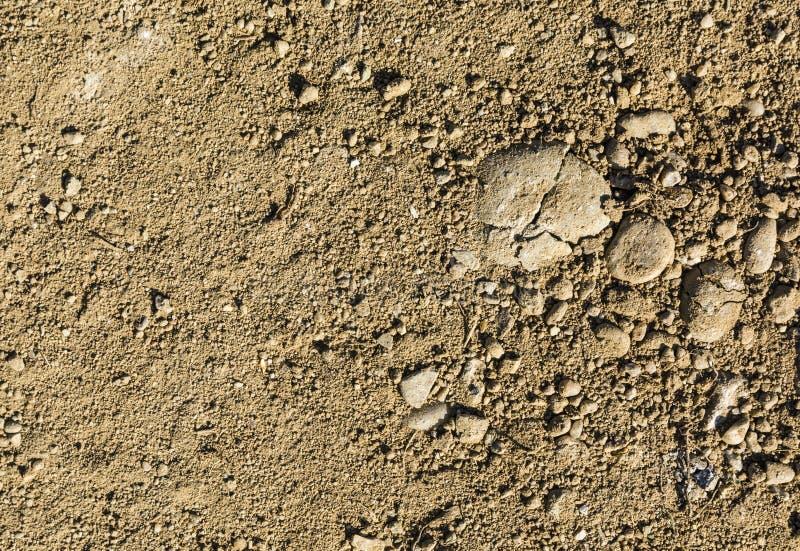 Boden mit Kies als natürlichen Muster stockbild