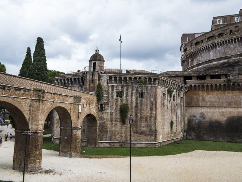 Boden Sans Angelo Castle, Rom, Italien stockbild