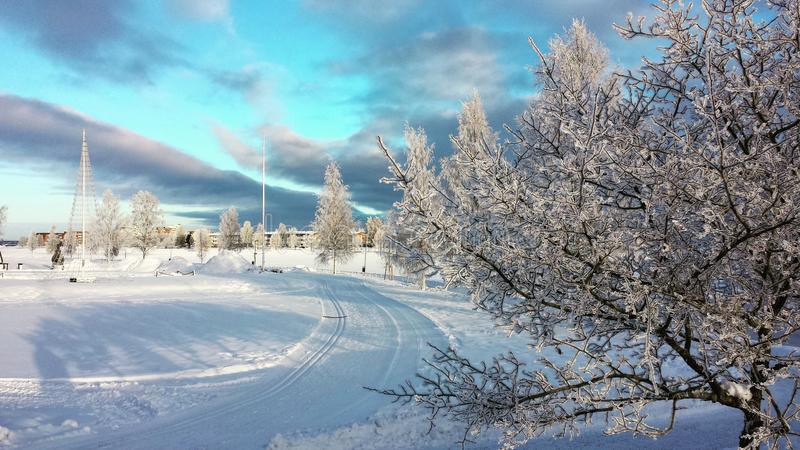Boden, Sweden. Town in the north of Sweden stock photos