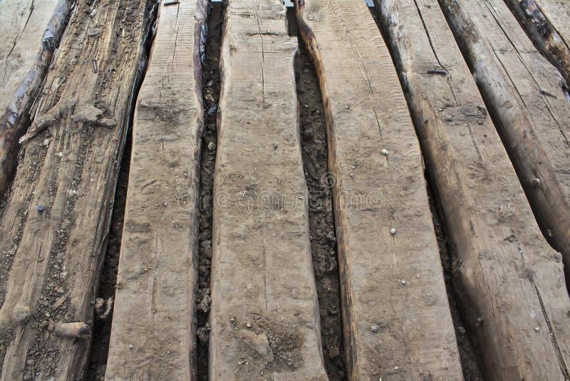 Bodenbelag der alten Bretter stockbild