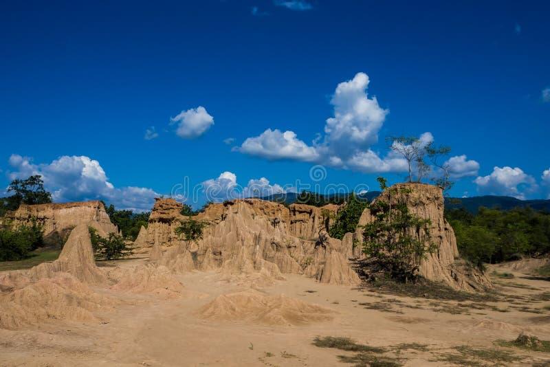 Bodenbeschaffenheiten des Sao-Lärms Nanoy, Nan Province, Thailand stockfotos