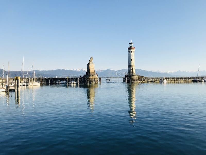 Bodensee in Lindau, Duitsland royalty-vrije stock afbeeldingen