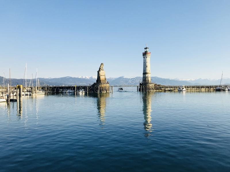 Bodensee w Lindau, Niemcy obrazy royalty free