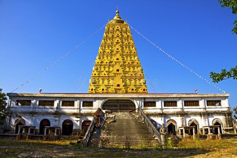 Bodh de oro tailandés Gaya fotografía de archivo