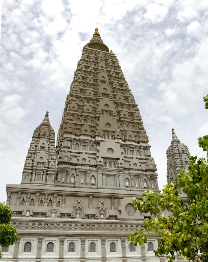 Bodh Gaya is a religious site and place of pilgrimage associated with the Mahabodhi Temple Complex in watpanyanantaram in Khlong royalty free stock photos