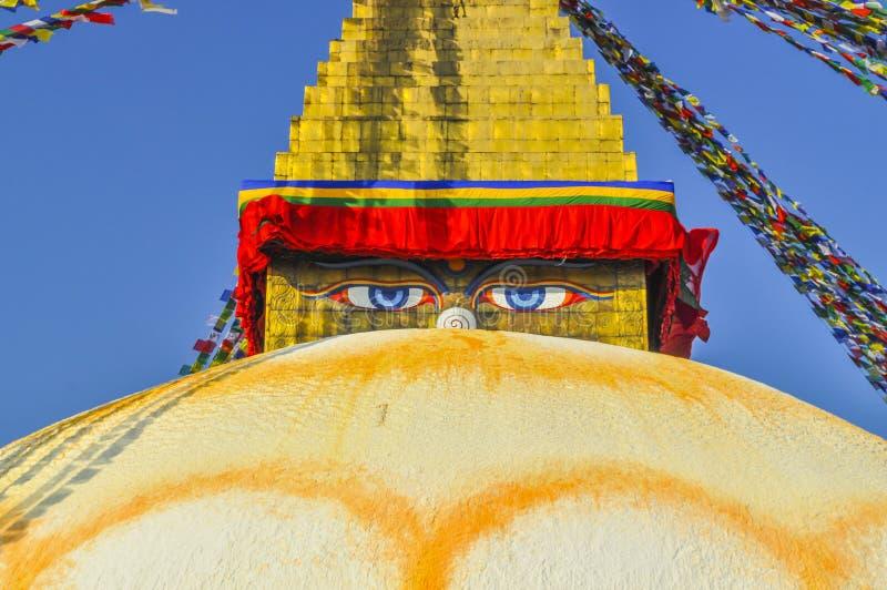 Bodhanath Stupa i Kathmandu Valley, Nepal royaltyfri bild