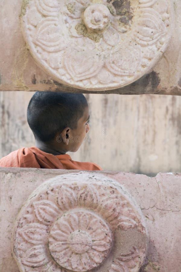 bodhgaya修士年轻人 免版税库存照片