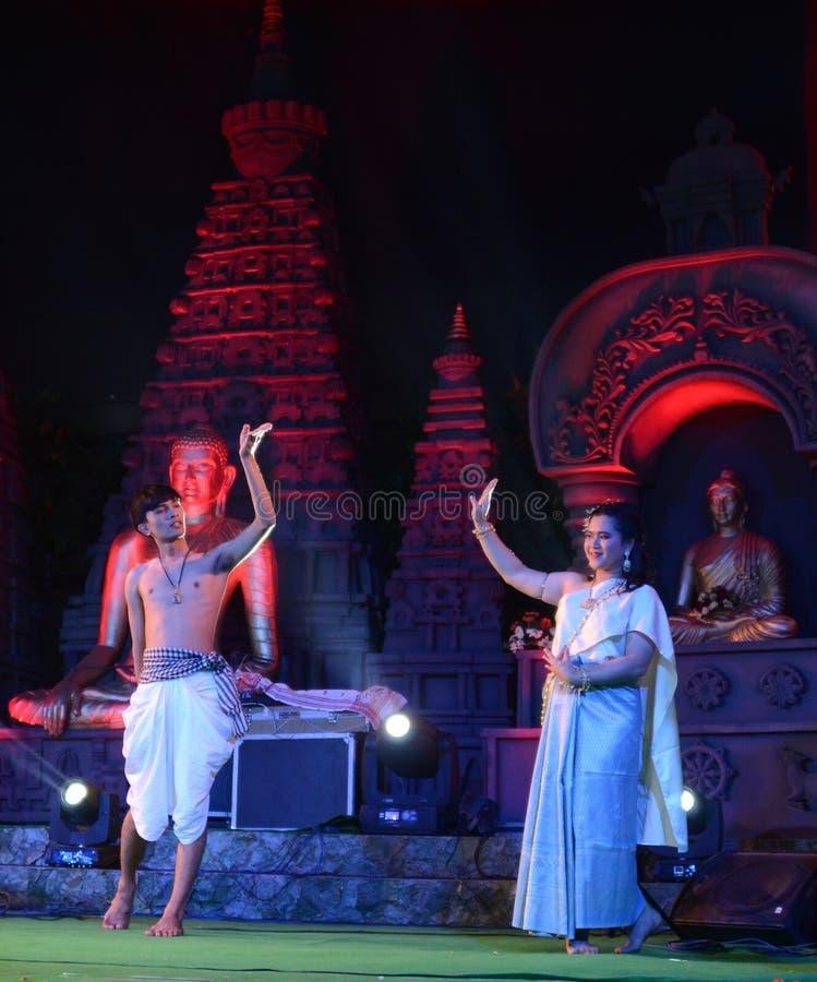 Thailand artist in Bodhgaya, bihar, India. royalty free stock images