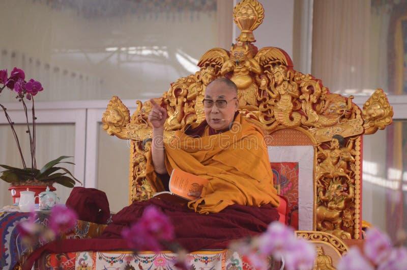 Holiness Dalai lama in Bodhgaya, India. stock images
