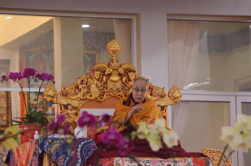 Holiness Dalai lama in Bodhgaya, India. royalty free stock photos
