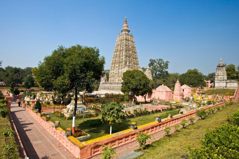 bodhgaya mahabodhi świątynia fotografia stock