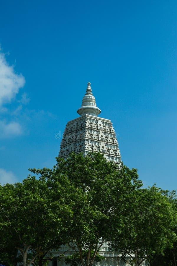 Bodhgaya pagoda reprodukuje zdjęcie stock