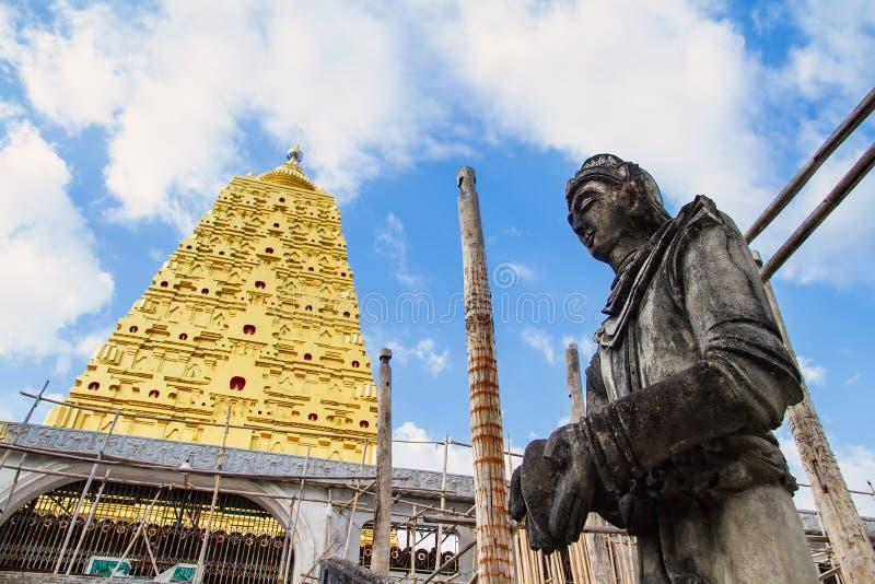 Download Bodhgaya Stupa Or Phuthakaya Pagoda At Sangklaburi, Kanchanaburi Stock Image - Image: 83704345