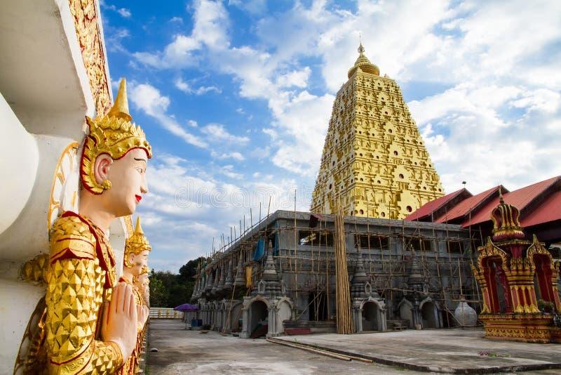Download Bodhgaya Stupa Or Phuthakaya Pagoda At Sangklaburi, Kanchanaburi Stock Image - Image: 83704855