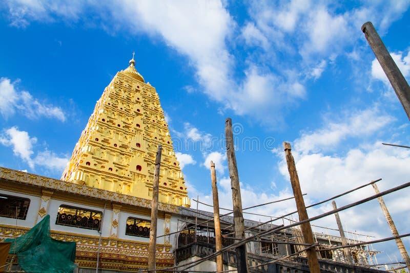 Download Bodhgaya Stupa Or Phuthakaya Pagoda At Sangklaburi, Kanchanaburi Stock Image - Image: 83705877
