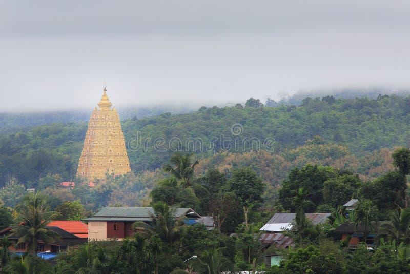 Bodhgaya-style stupa at Wangvivagegaram Temple stock photos