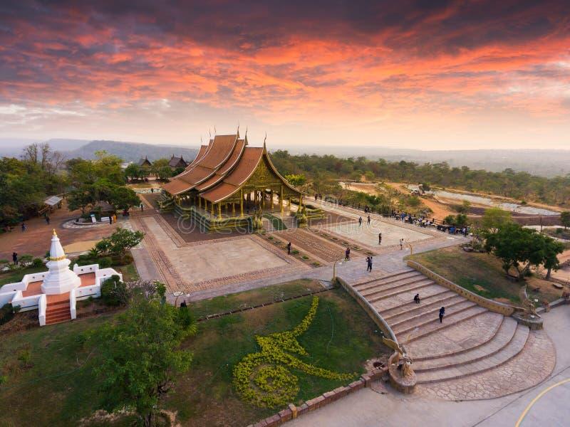 Bodhi-Baumglühen Wat Sirindhornwararam stockbilder