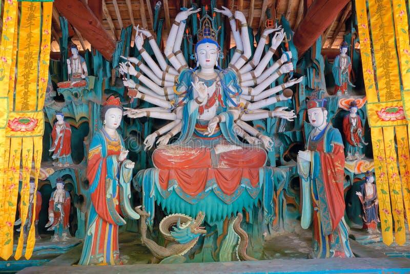 Bodhisattva de la Mil-Mano fotografía de archivo libre de regalías