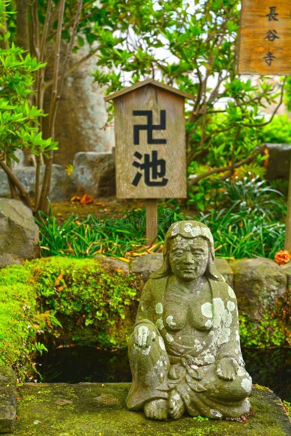 bodhisattva de los Datuse-vagos en Hase Dera Buddhist Temple, Kamakura, Ja imagen de archivo