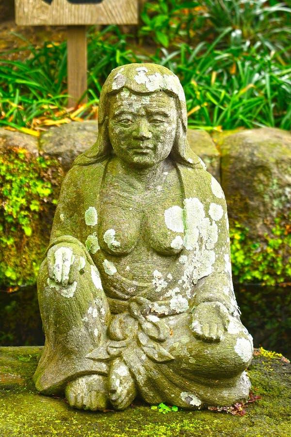 bodhisattva di Datuse-sedere a Hase Dera Buddhist Temple, Kamakura, Ja immagini stock libere da diritti