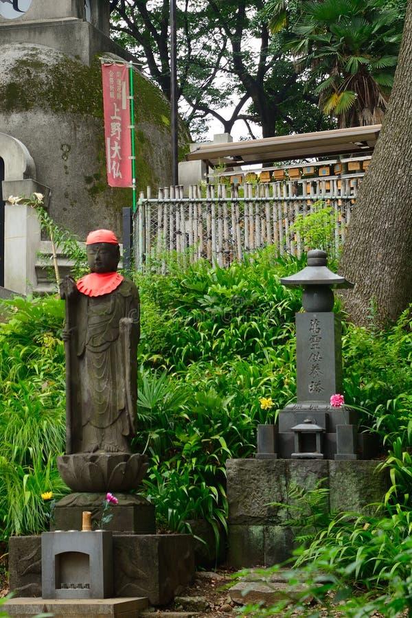 Bodhisattva di Jizo, Tokyo, Giappone fotografia stock