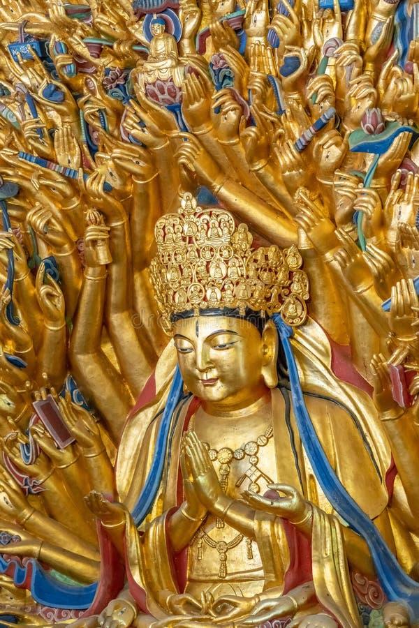 Bodhisattva do guanyin de mil mãos foto de stock royalty free