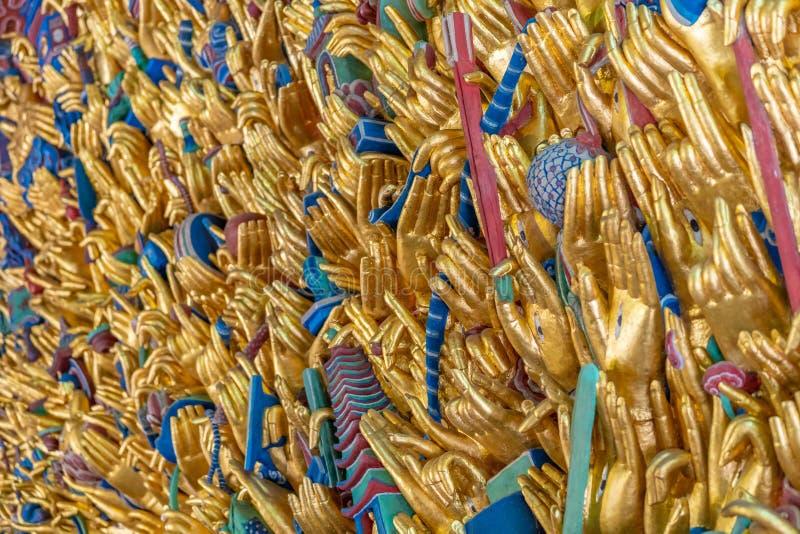 Bodhisattva do guanyin de mil mãos foto de stock