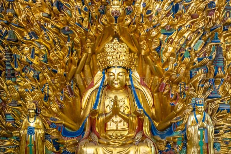 Bodhisattva do guanyin de mil mãos fotos de stock royalty free