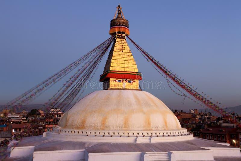 bodhnath Νεπάλ στοκ εικόνες