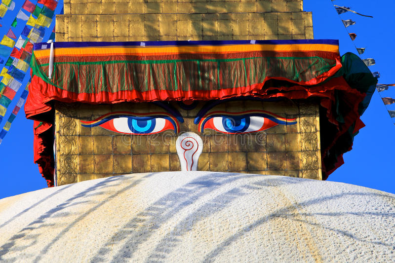 Bodhnath, Nepal immagine stock