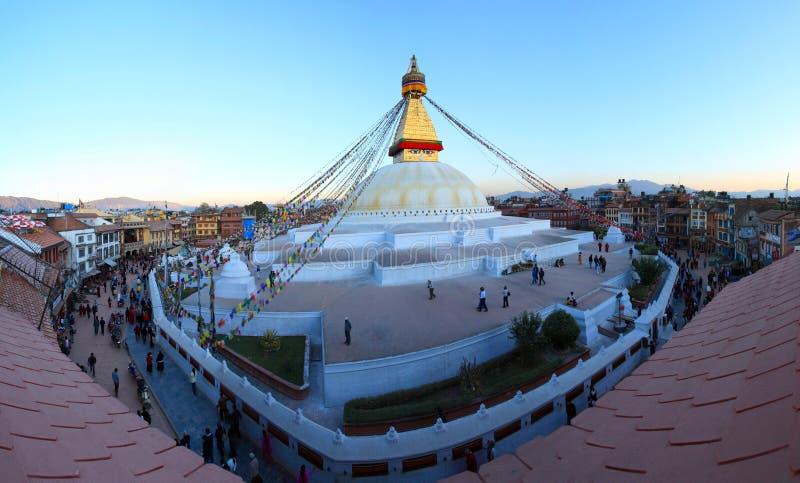 bodhnath nepal arkivbilder