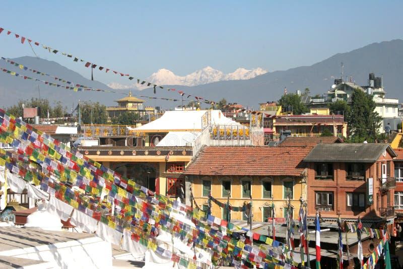 bodhnath Nepalu stupa zdjęcie stock