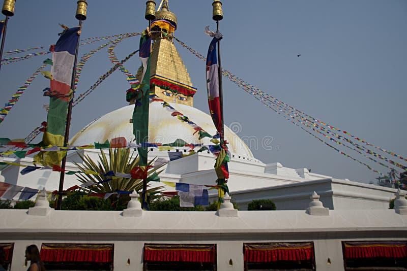 Bodhnath Stupa A fotografering för bildbyråer