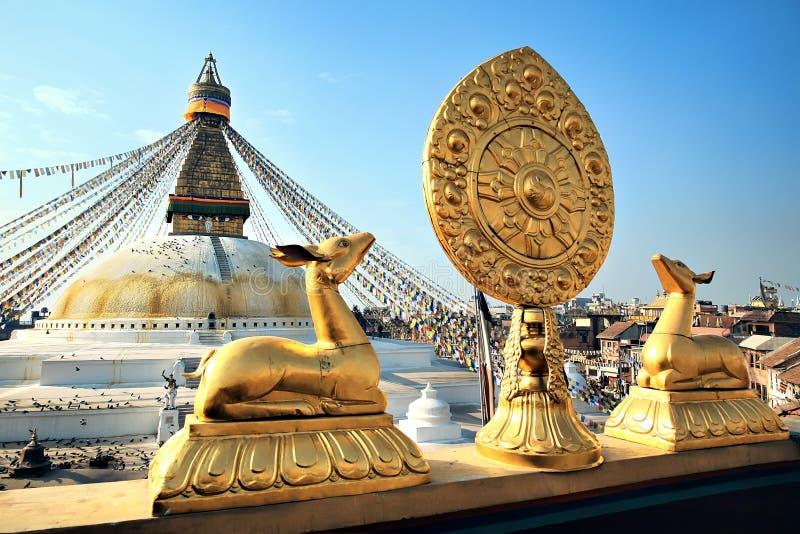 Bodhnath stupa stock photos