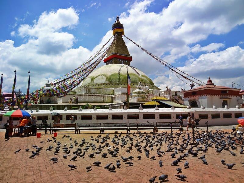 Bodhnath Stupa fotografia stock libera da diritti