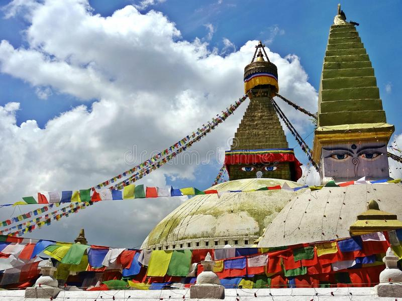 Bodhnath Stupa fotografie stock libere da diritti