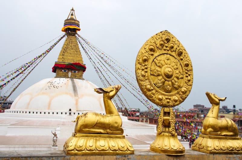 Bodhnath Stupa en Katmandu, Nepal fotografía de archivo