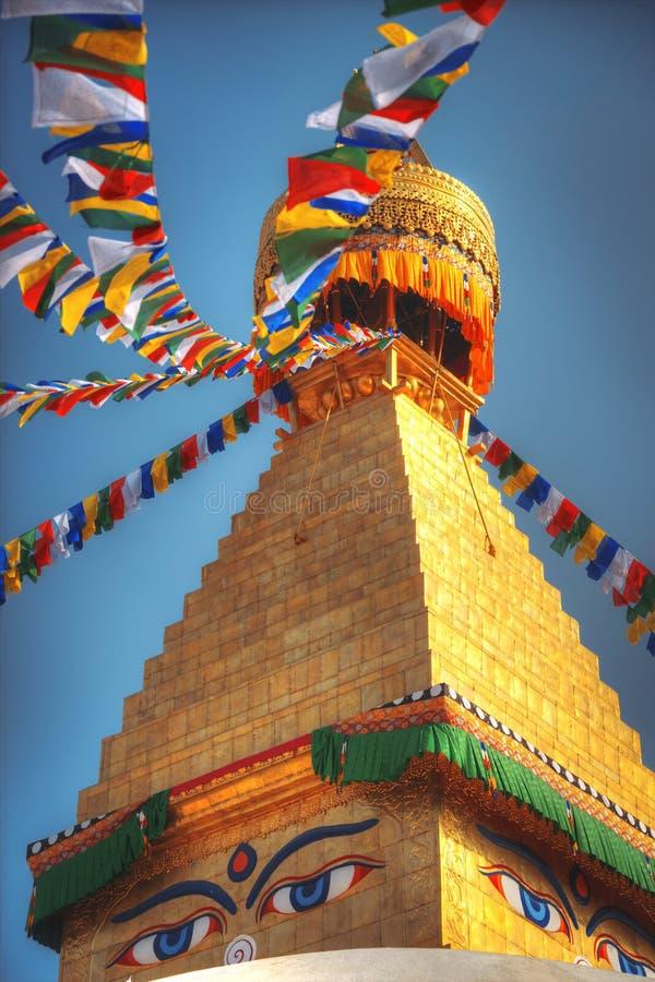 Bodhnath stupa. Evening view of Bodhnath stupa . Kathmandu . Nepal royalty free stock images