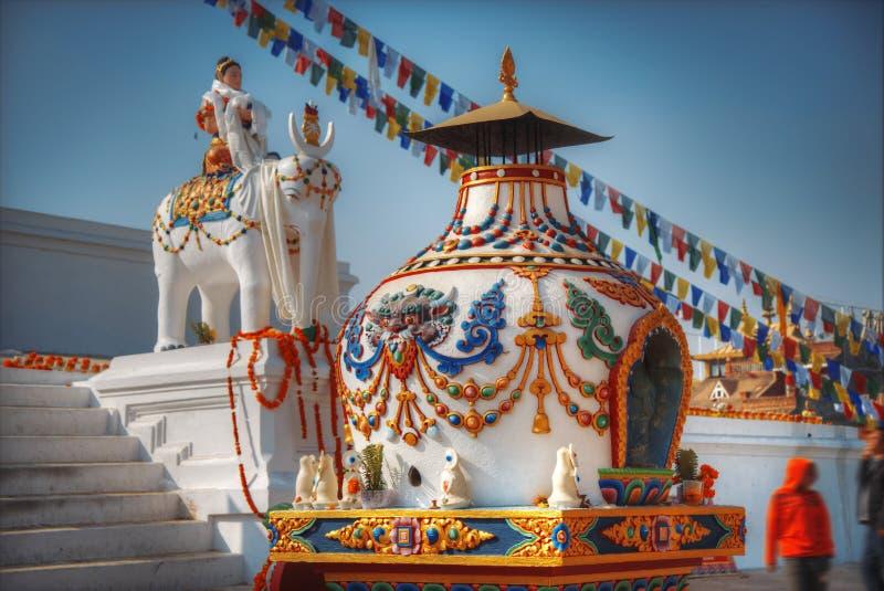 Bodhnath stupa. Evening view of Bodhnath stupa . Kathmandu . Nepal stock image