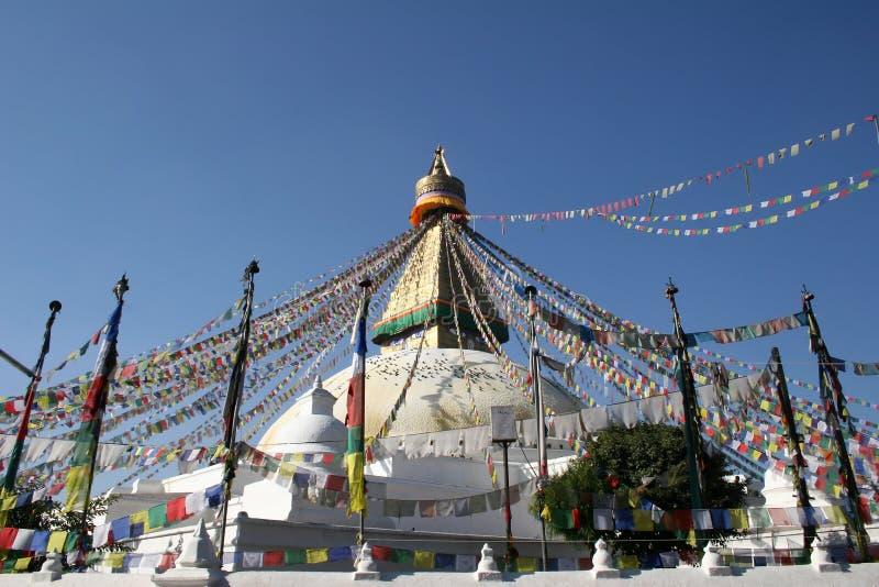Bodhnath Stupa - Nepal stock fotografie