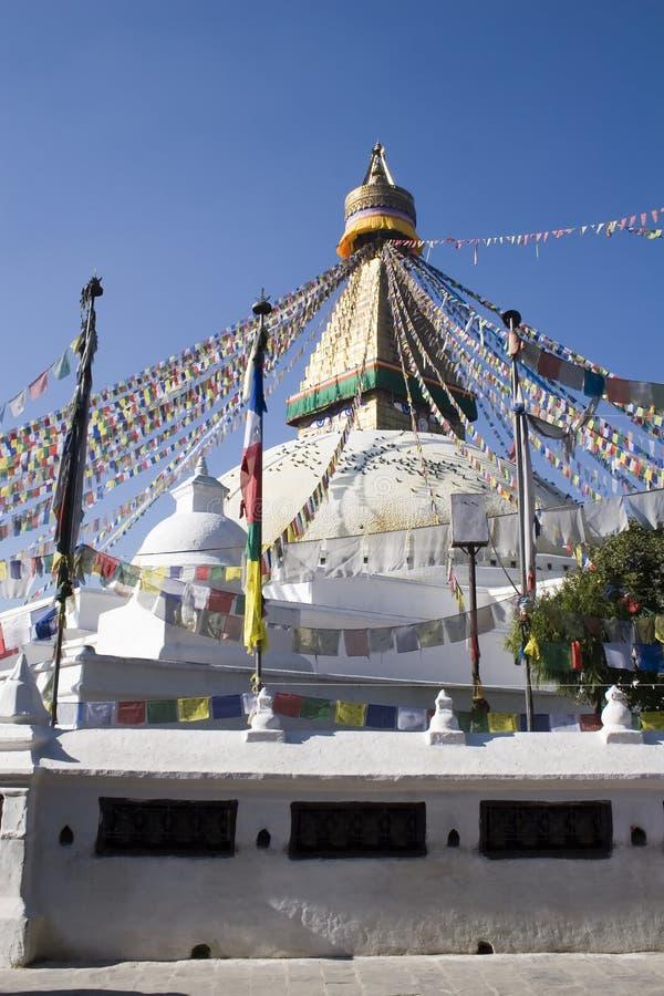 Bodhnath Stupa - Nepal stock foto's